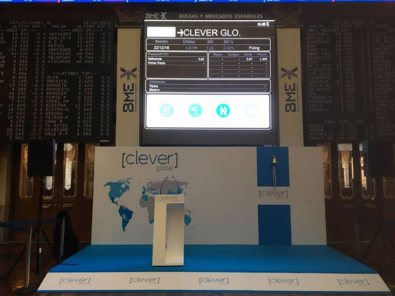 Salida al MAB de Clever Global 1